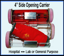 4 side opening hospital carriers